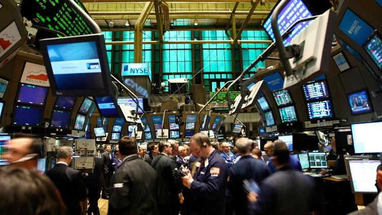 Indice Dow Jones illustration salle des marchés