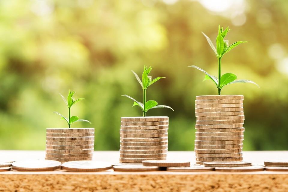 ratio cours-bénéfice illustration pile de pièces