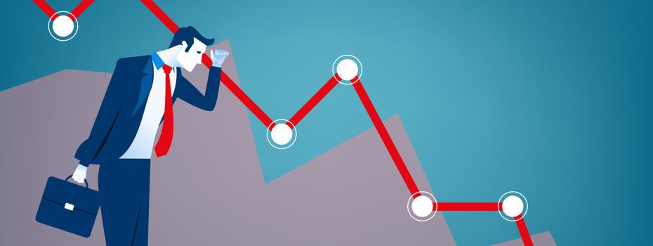 La bourse de paris cotations de a à z - illustration krach boursier trading