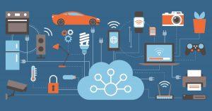 internet des objets marché - internet of things - illustration vecteurs objets