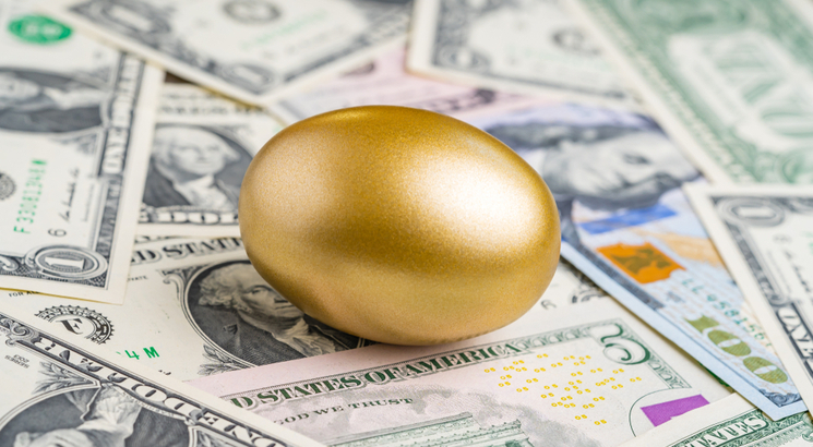 Dividende définition - taux de rendement dividende - illustration oeuf doré