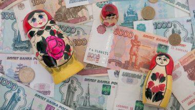 action russe bourse - acheter des actions russes - illustration billets poupées russes