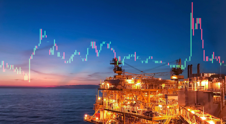 action petrole bourse - action shell - illustration photo plateforme