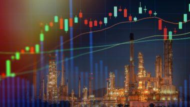 action petrole bourse - action shell - illustration plateforme nuit