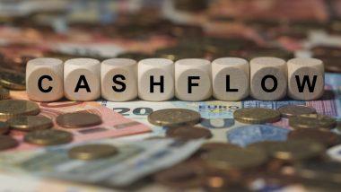 discounted cash flow - actualisation des flux de trésorerie - illustration lettres bois cashflow
