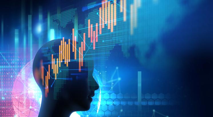 la psychologie du trader - psychologie trading - illlustration concept emotions bougies trading