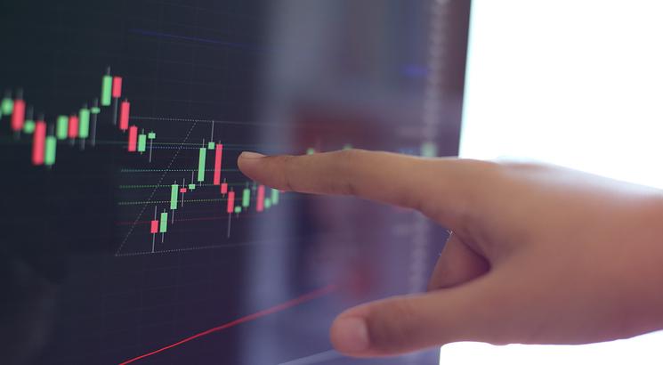 volume actions - volume trading - illustration main sur graphique